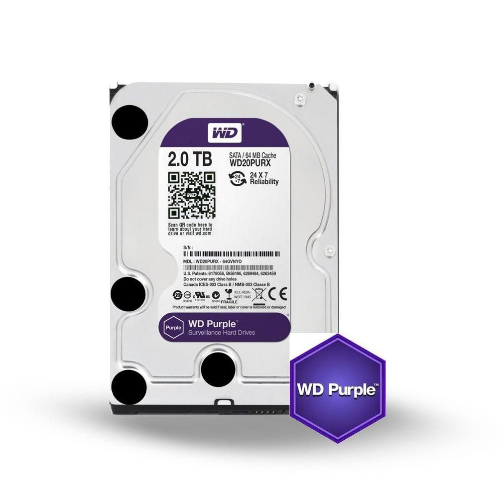 HD 2TB WD Purple - Intelbras