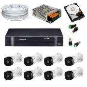 Kit 8 Câmeras De Segurança Bullet + HD 1TB + DVR 8 Canais  - Intelbras
