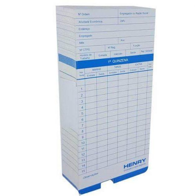 Kit Cartão Ponto Relógio Cartográfico - 100 Unidades - Azul